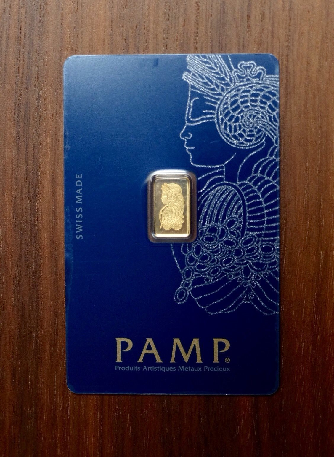 PAMP 1 Gram Gold Bar Minted 999.9 guldtacka
