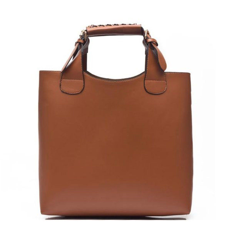 Handväska Retro Brunt Läder (340112870) ᐈ Popoo på Tradera