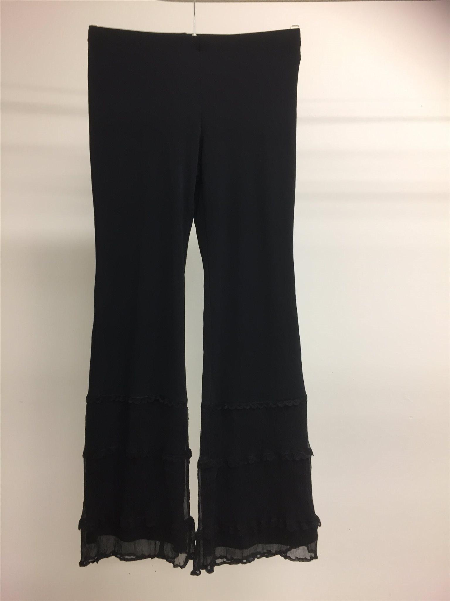 svarta snygga byxor