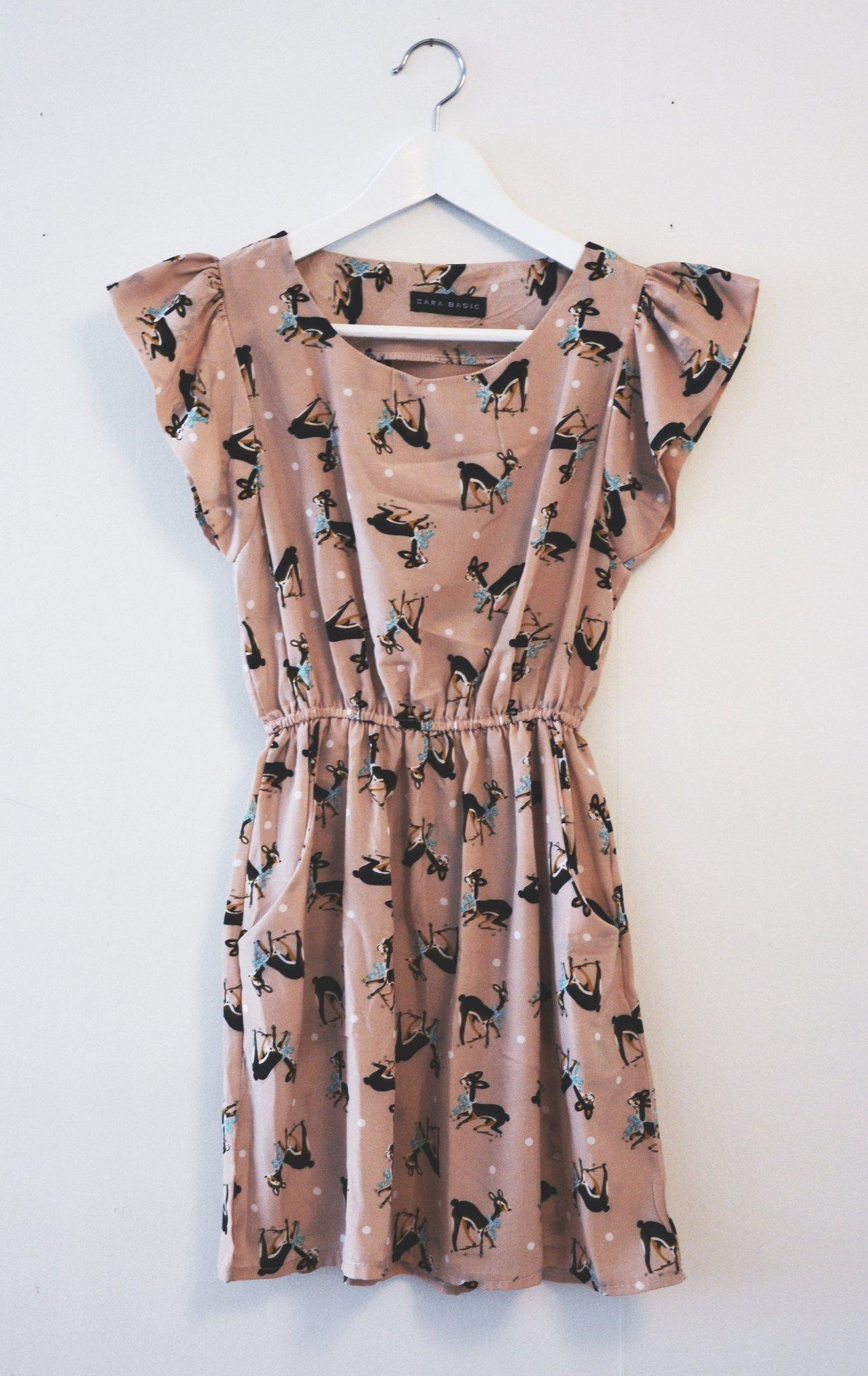 64680928806 Söt rosa klänning med rådjur-mönster / Skolavsl.. (353530716) ᐈ Köp ...