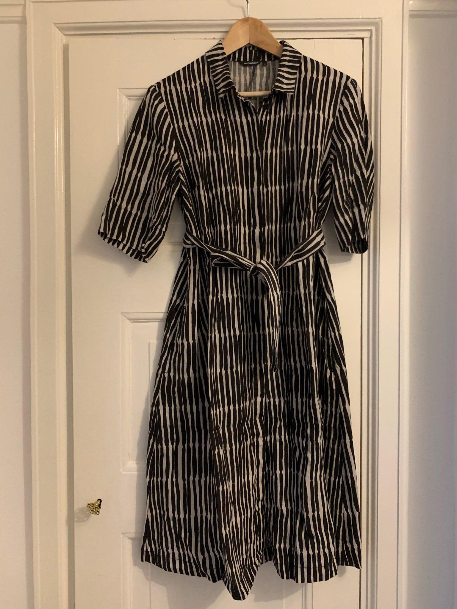Marimekko skjortklänning svartvit stl 38 (422339546) ᐈ Köp