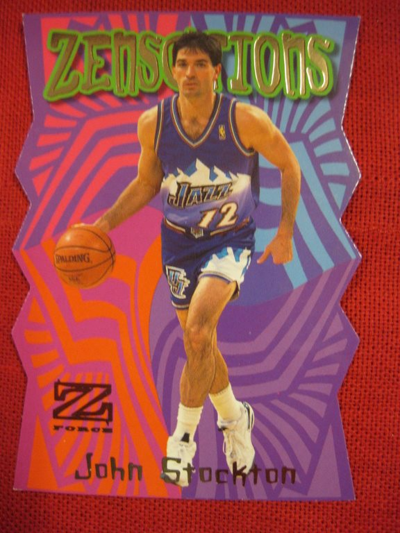 JOHN STOCKTON - ZENSATIONS - 1997-98 Z-FORCE - UTAH JAZZ - BASKET
