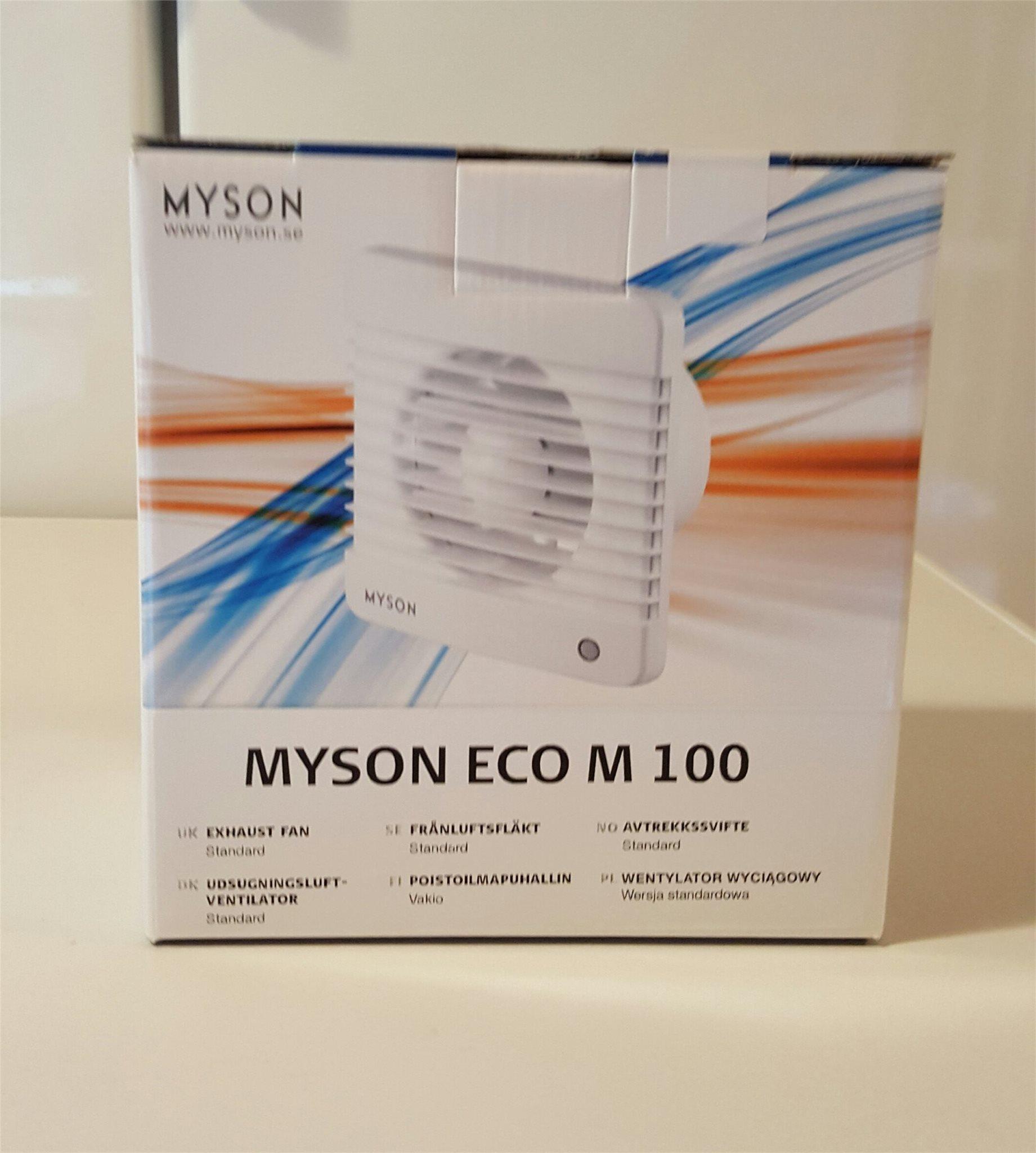2 st st st Myson Badrums/Frånluftsfläkt Standard tänds via strömbrytare  Ny i kartong. e7173a