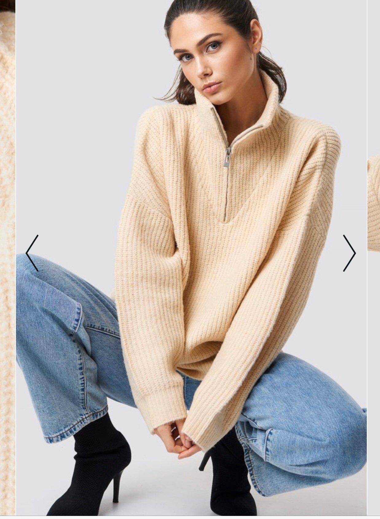 Stickad tröja från Na kd, storlek S