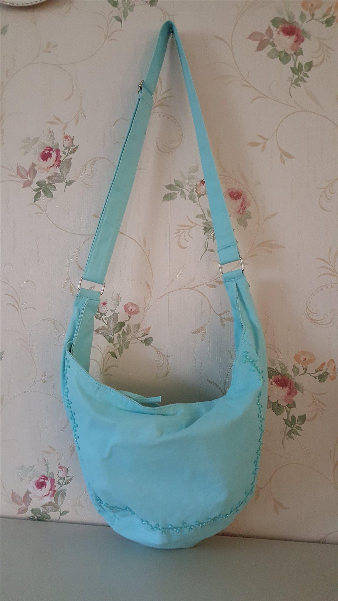 Snygg turkos sommar väska. (316267512) ᐈ Köp på Tradera.com a22e9bab94f8a