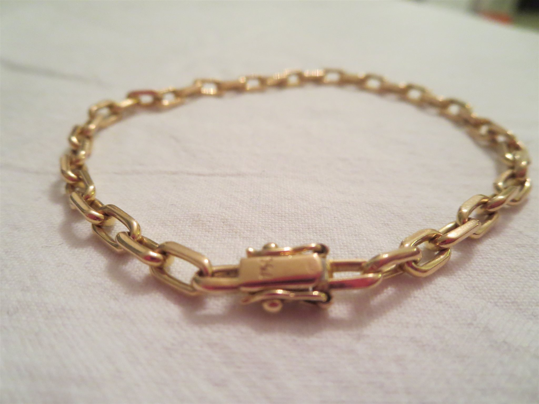 Ankarlänk 18K guld. 11.4 g. Ca 21 cm. (337091445) ᐈ Köp på Tradera 798204ec80247