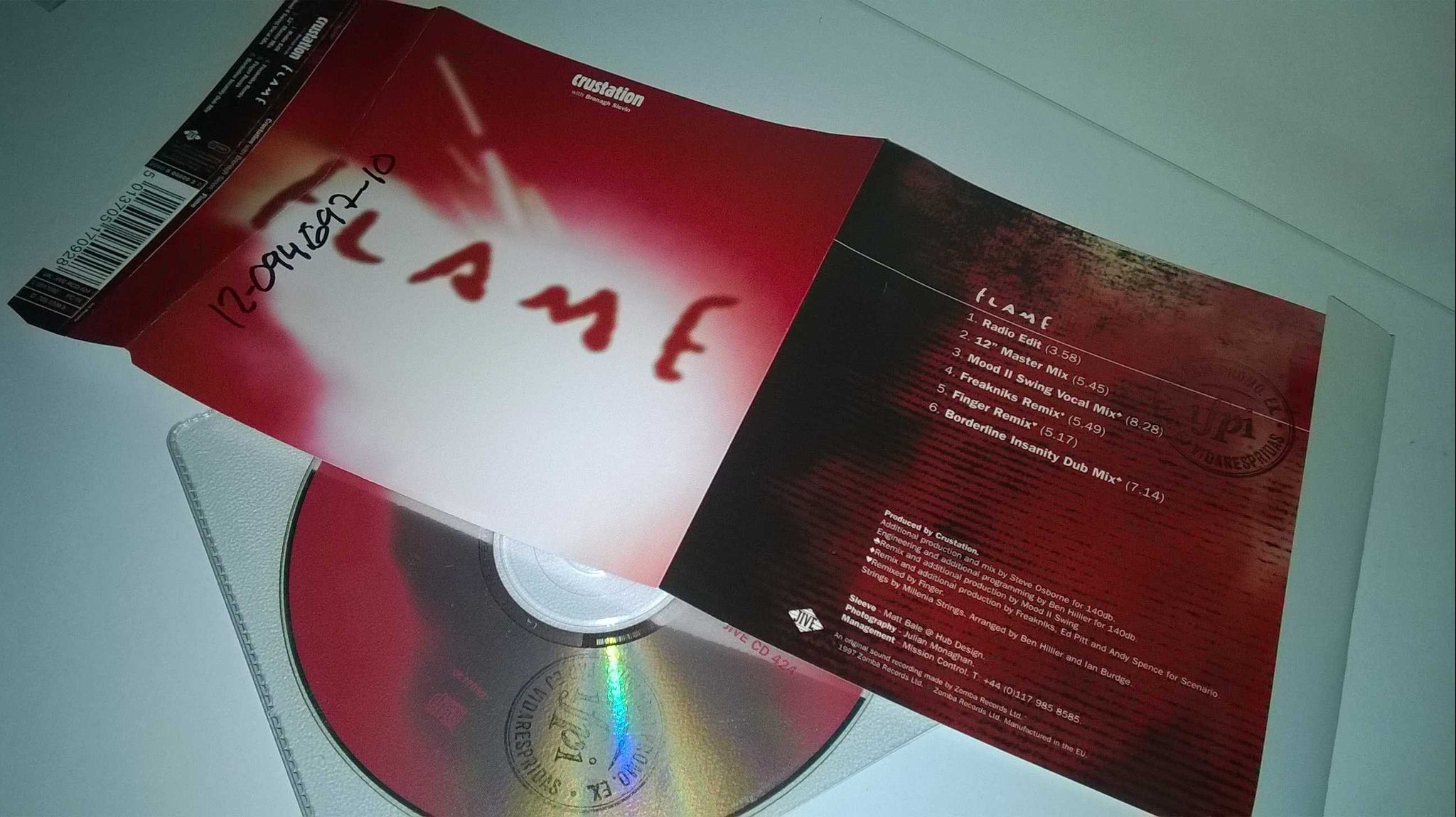 Crustation - Flame, single CD, promo stämplad