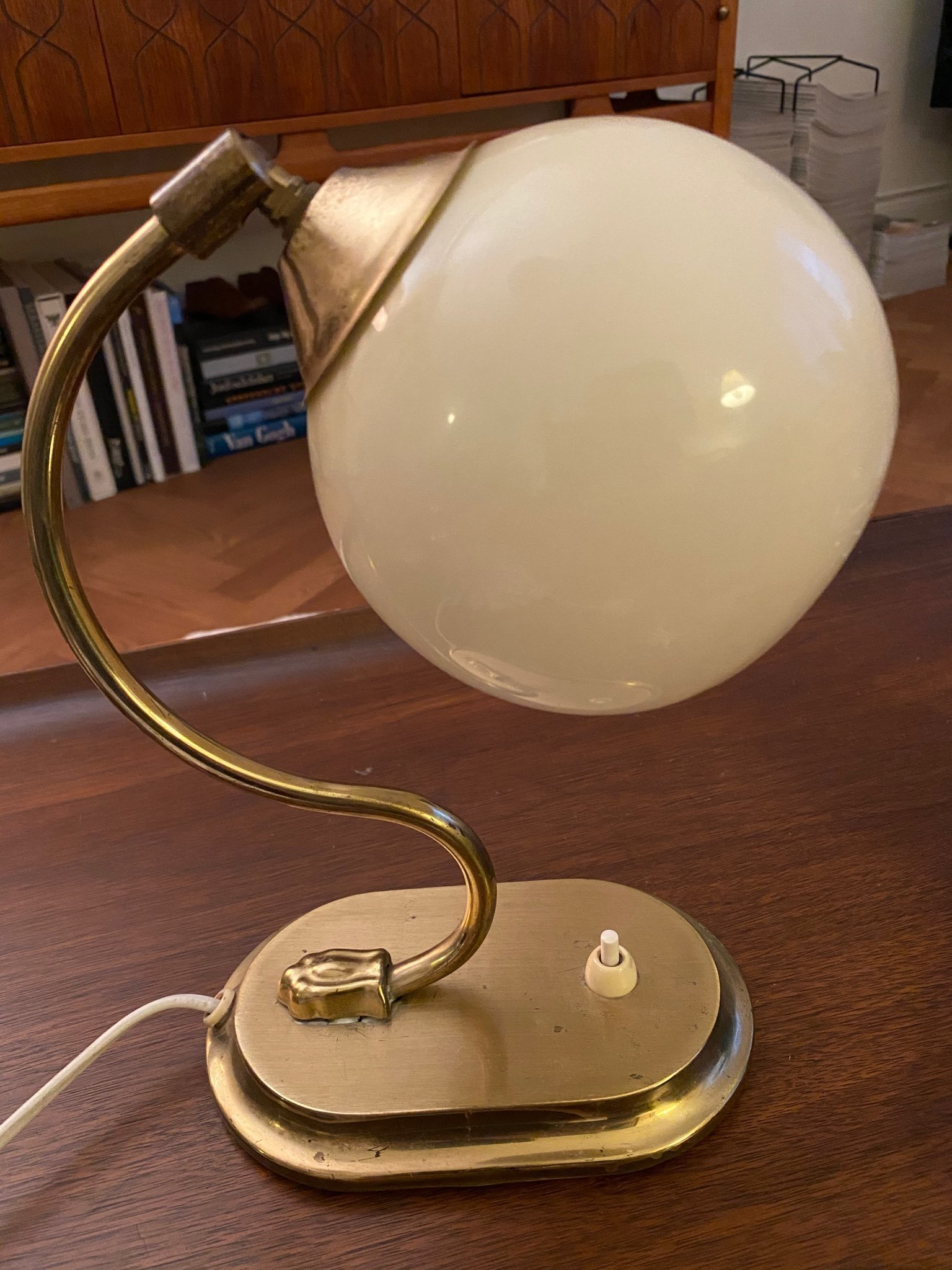 Art Deco lampa Funkis bords eller vägglampa Retro