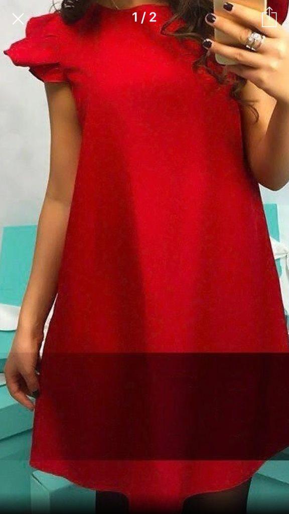 1b625c9f4e15 Snygg röd klänning med kortärm.. (324411175) ᐈ Butikeniborgholm på ...