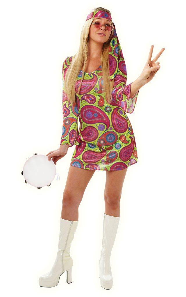 Handväskor 60 Tal : Hippie kostym dam outfit dr?kt flower power tal