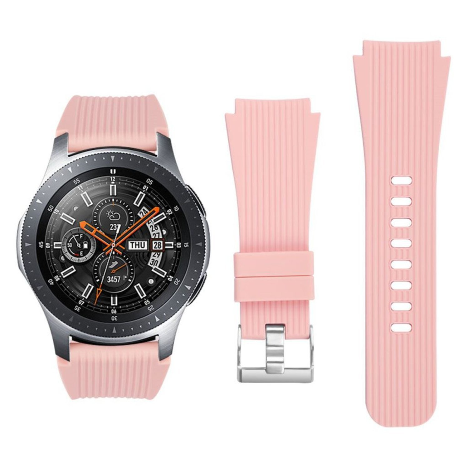 Samsung Galaxy Watch (46mm) vertical stripe texture watch ba