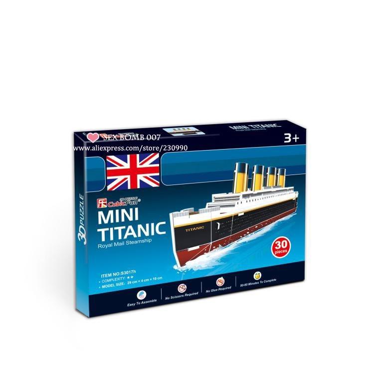 3D Pussel Titanic Jigsaw DIY DIY DIY Toy leksak 70c195