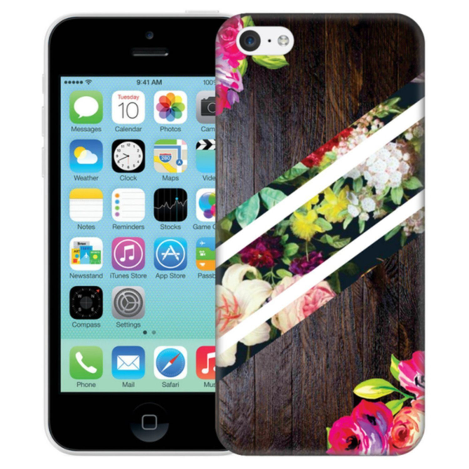 iPhone 5C Skal Abstrakt Blommönster