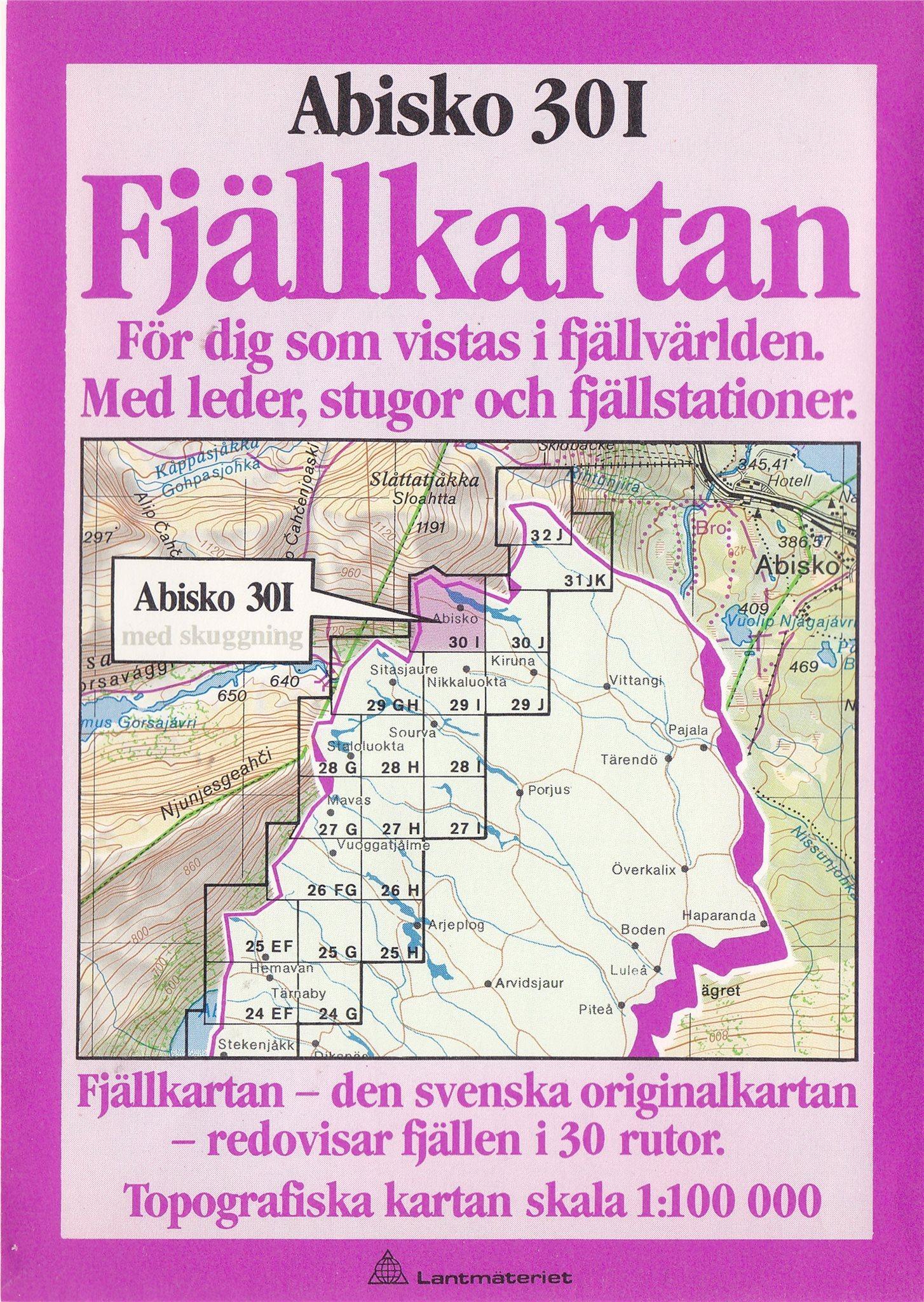 Karta Riksgransen Abisko.Karta Abisko 30 I 339721574 ᐈ Kop Pa Tradera