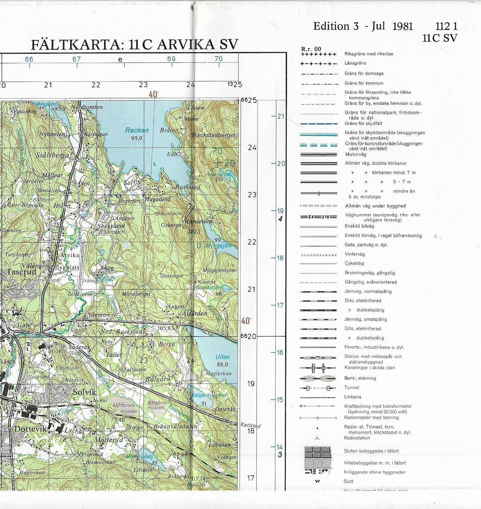 Topografisk Karta Over Sverige Faltkarta 11c 379851582 ᐈ