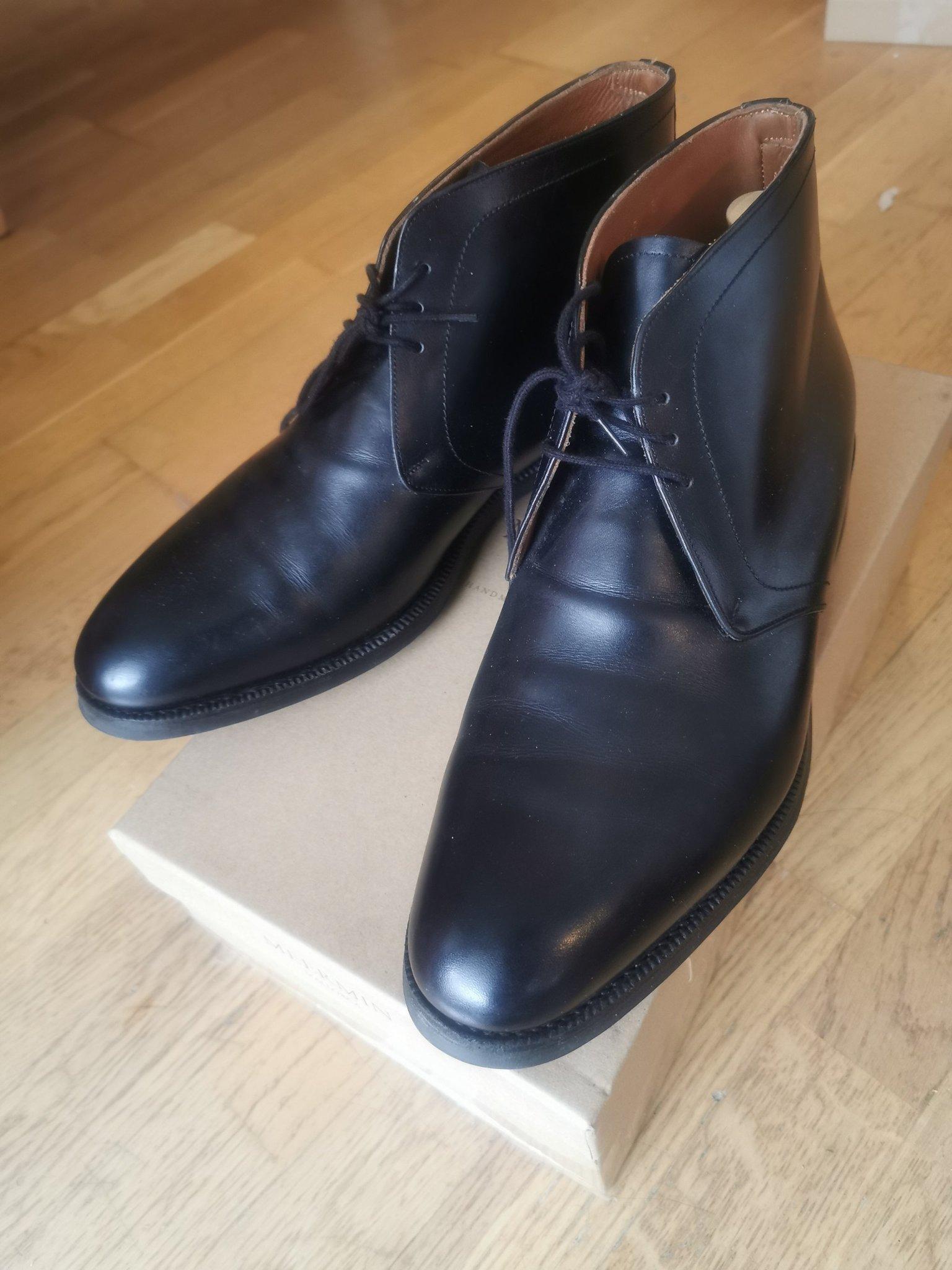 Meermin m box chukka boots skor UK8, 42. Randsydda, Loake,Barker
