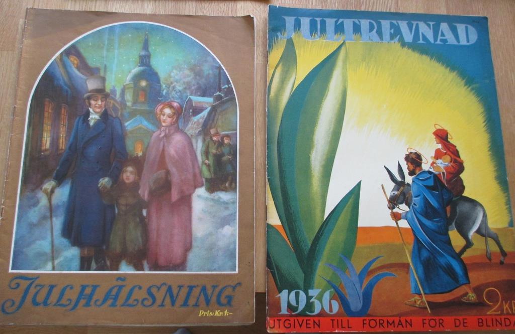 Jul, Gamla Jultidningar från 1936, 1936, 1936, Julhälsning och Jultrevnad, Ruben Nilson mm eb6c66