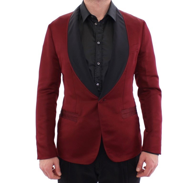 Dolce & Gabbana - Red burgundy slim fit smoking blazer