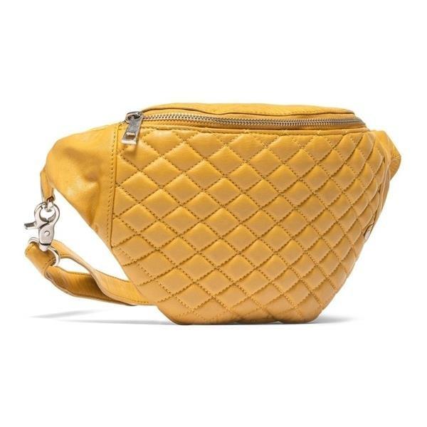 Depeche väska bum bag crossover senapsgul 100% läder nyskick