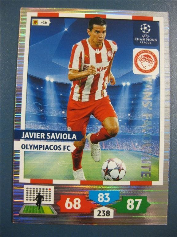 FANS FAVOURITE : JAVIER SAVIOLA -  OLYMPIACOS - CHAMPIONS LEAGUE 2013-2014