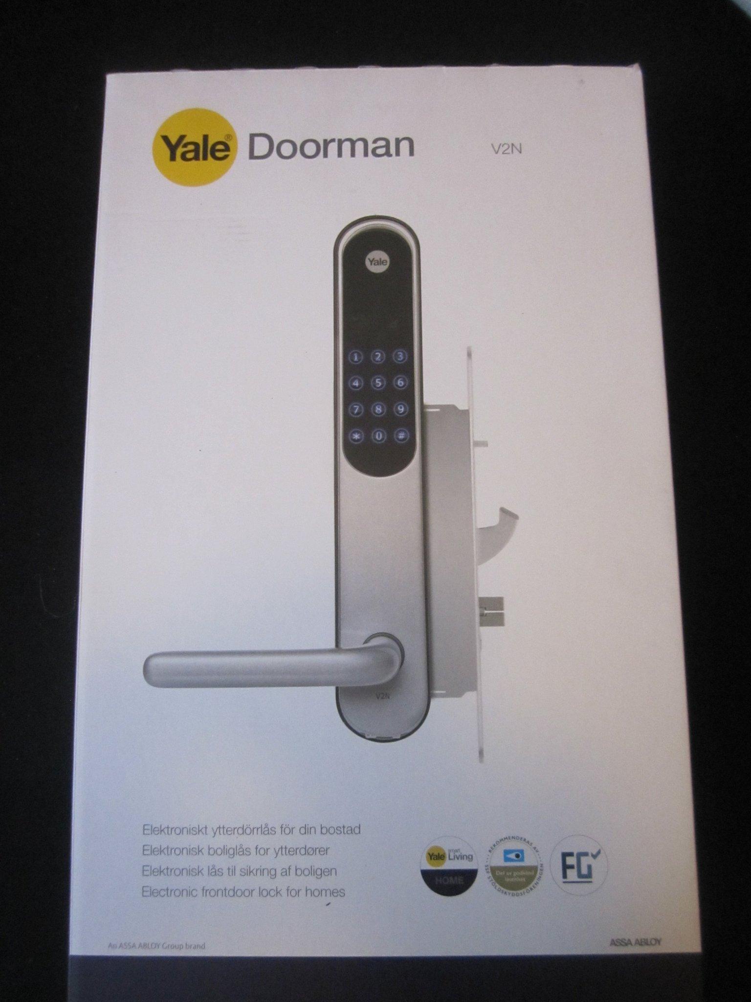 Fantastisk Yale Doorman V2N Elektronisk digitalt dörrlås. .. (357748990) ᐈ KY-97