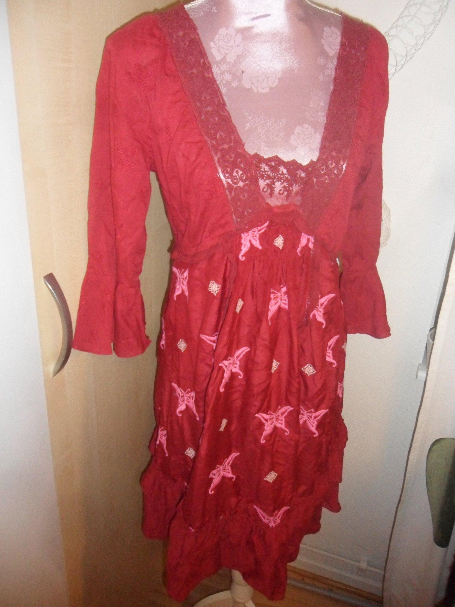 odd molly klänning röd