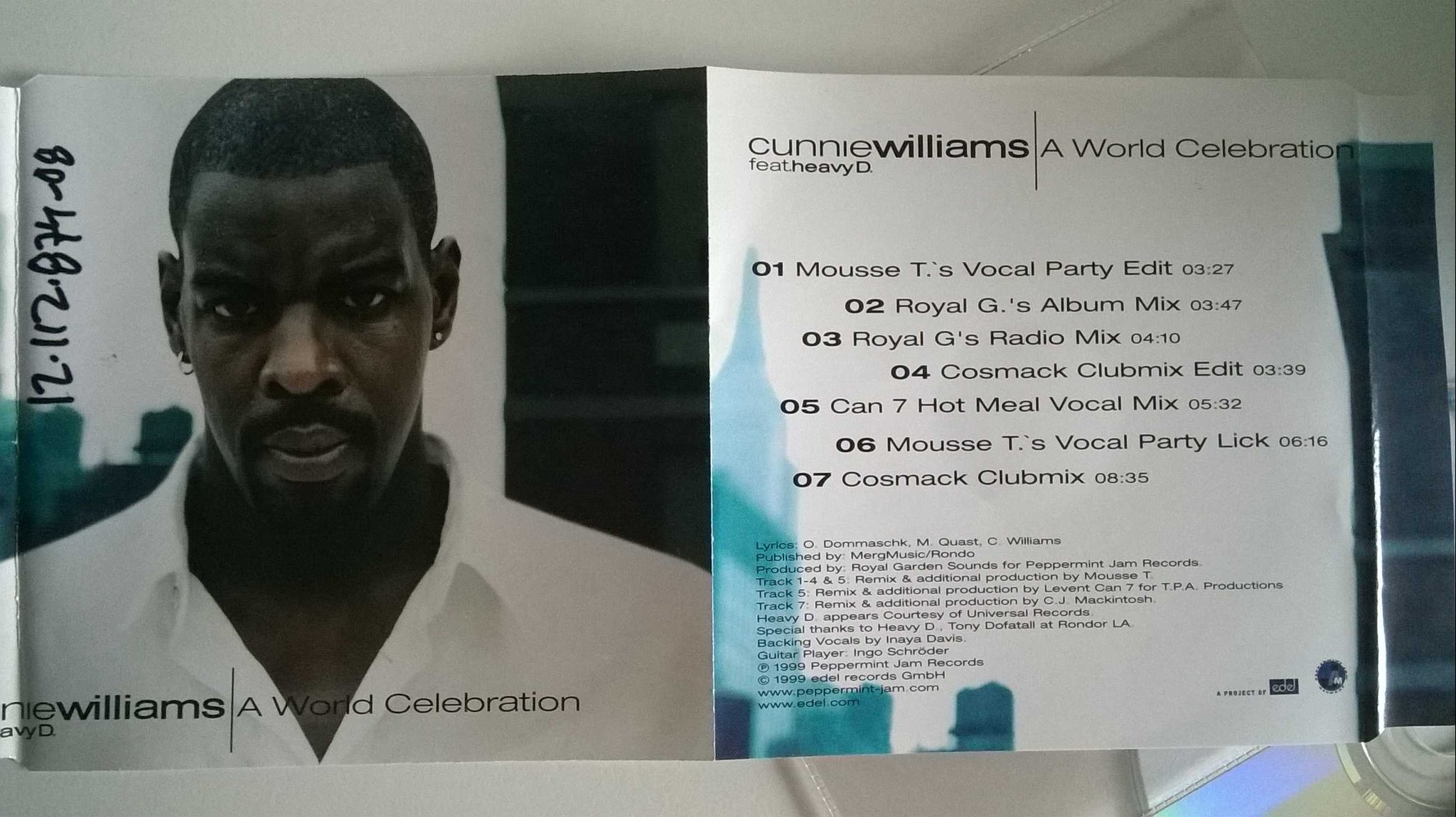 Cunnie Williams feat. HeavyD - A world celebrations, CD