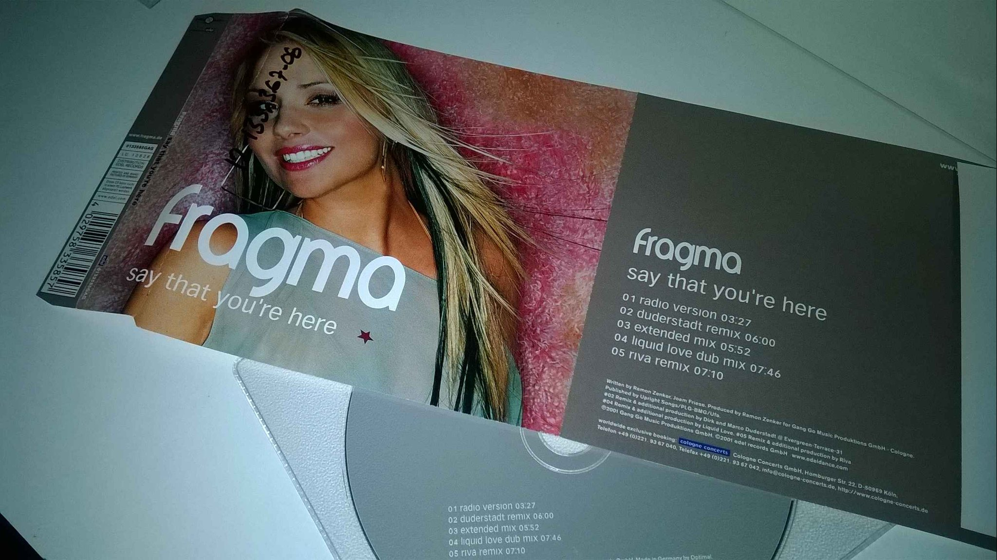 Fragma - Say that you're here, single CD