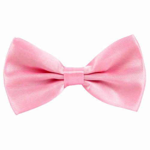 Men Boys Pre Tied Wedding Party Fancy Plain Satin Necktie Bow Tie Bowtie UK New