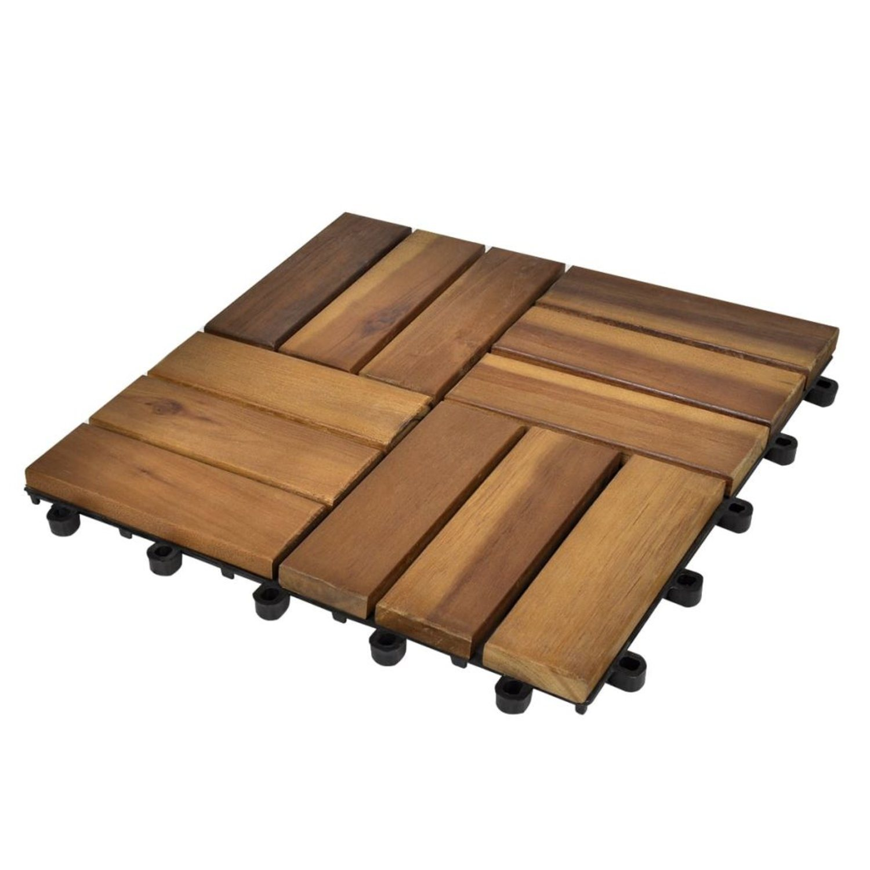 Balkongplattor i akaciaträ 30 x 30, 30 st