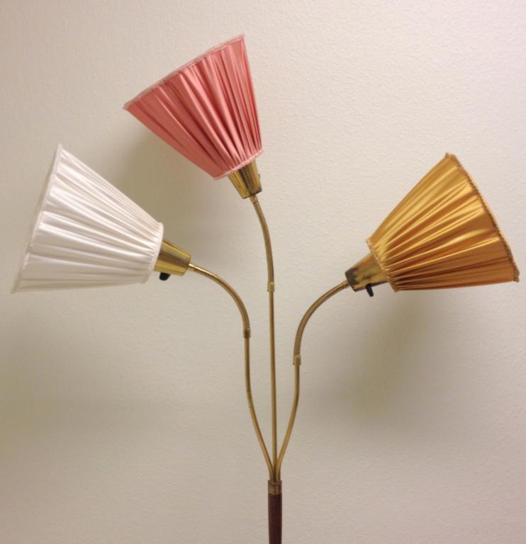 3 FINA LAMPSKäRMAR TILL DIN RETRO GOLVLAMPA VIT GULD ROSA på