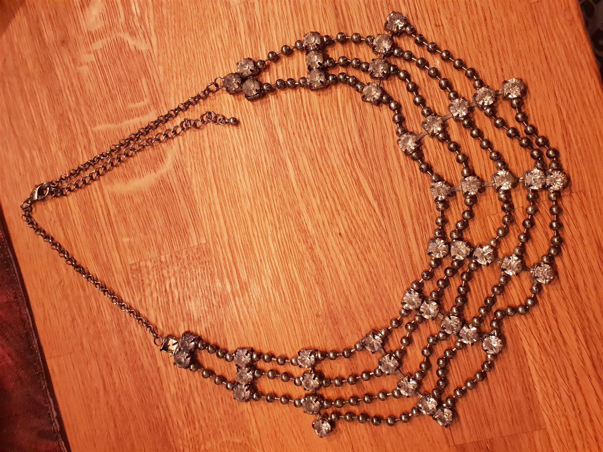 Halsband som ny nyår jul fest strass nelly (332027007) ᐈ Köp på Tradera 2eefe71e9cd22