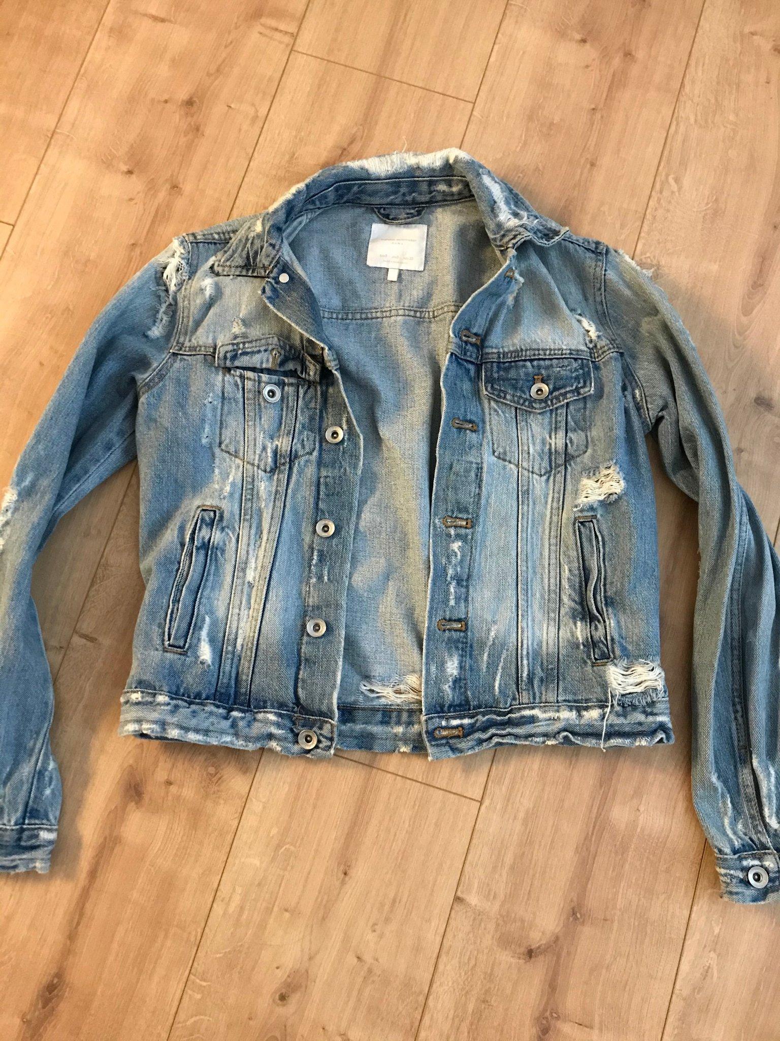 Zara jeansjacka S (398048491) ᐈ Köp på Tradera