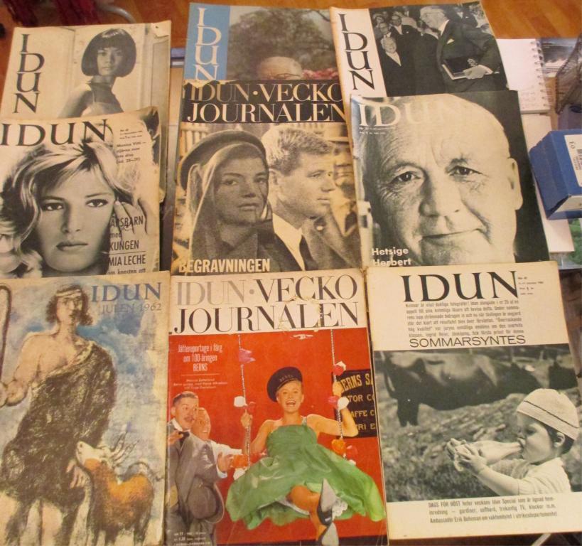 9 tidskrifter, Idun från 1962 och 1963