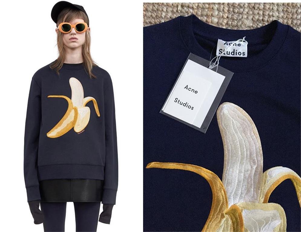 Acne Studios cardigan med banan