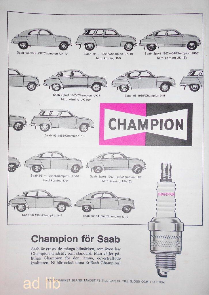 SAAB - CHAMPION FÖR SAAB 4064b50cac20e