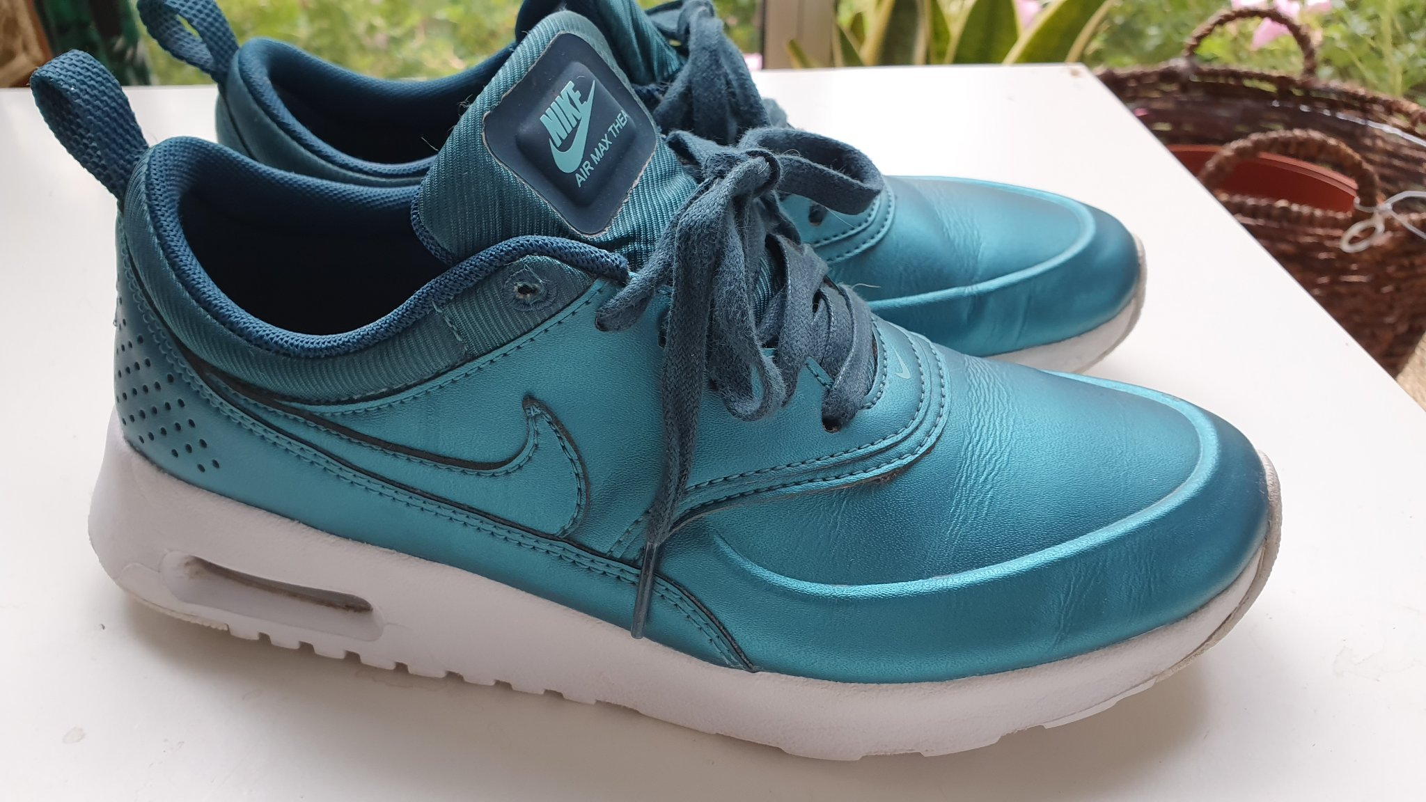 Nike Air Max Thea Teal Green Metallic Sneaker NWT