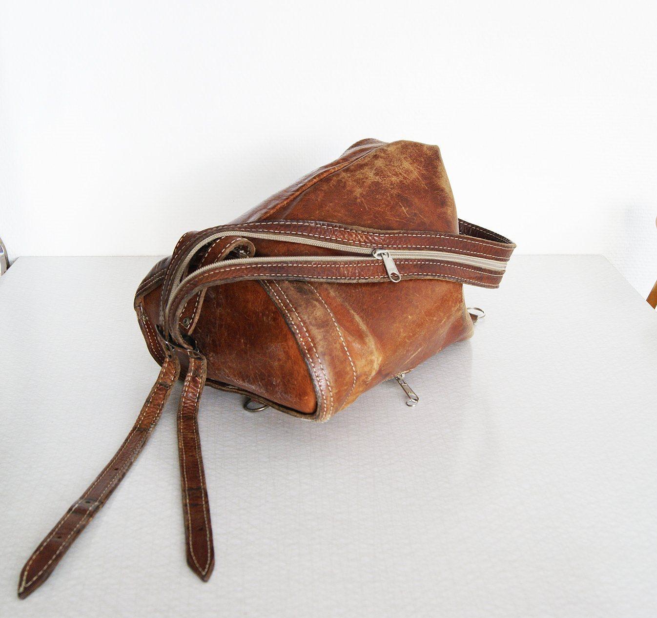 Vintage ryggsäck i cognacsfärgat skinn. Läder B.. (343307797) ᐈ Köp ... 825000d101eec