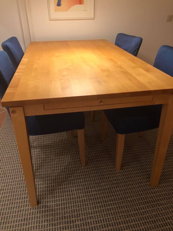 SKRIVBORD, massiv ek, Stolab. Möbler Övrigt Auctionet
