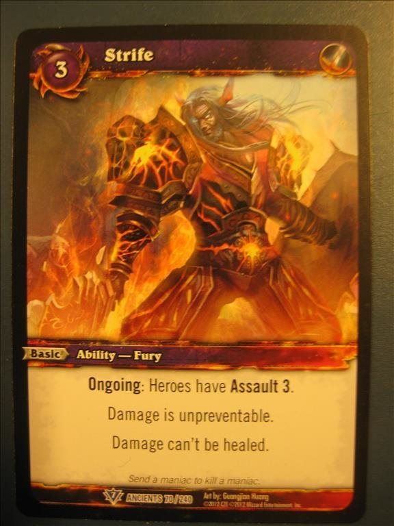 WORLD OF WARCRAFT - STRIFE - RARE - ANCIENTS