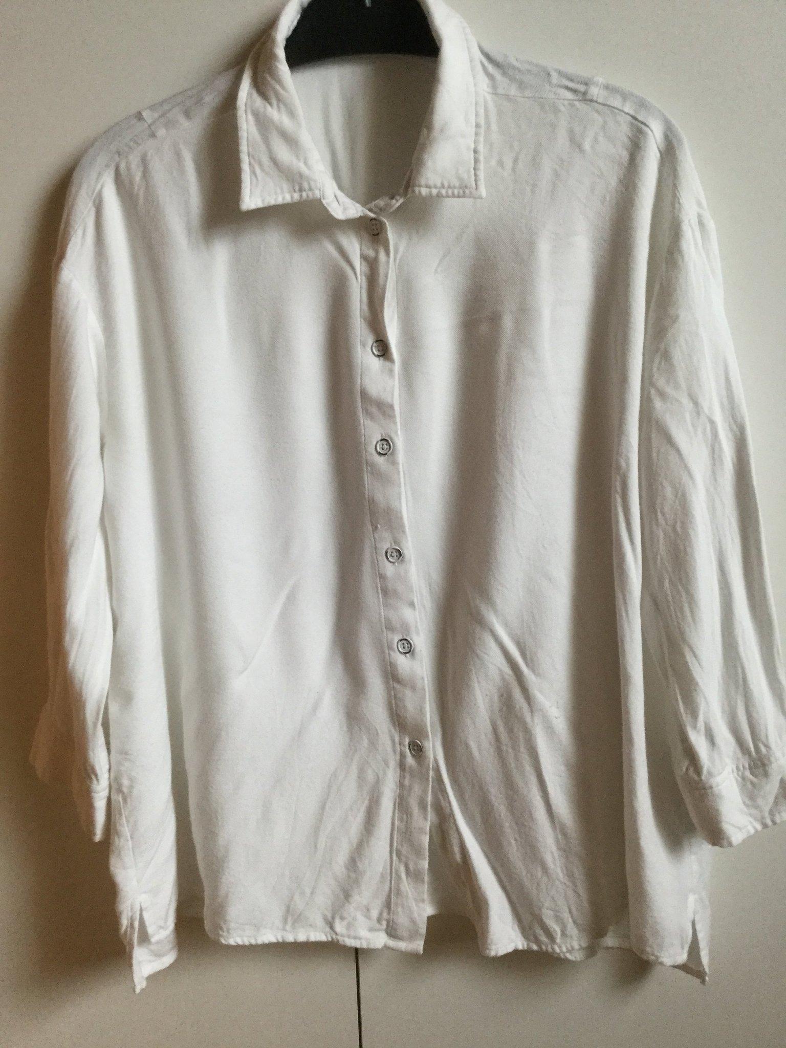 TIGER OF SWEDEN 100% bomull vit långärmad tröja M