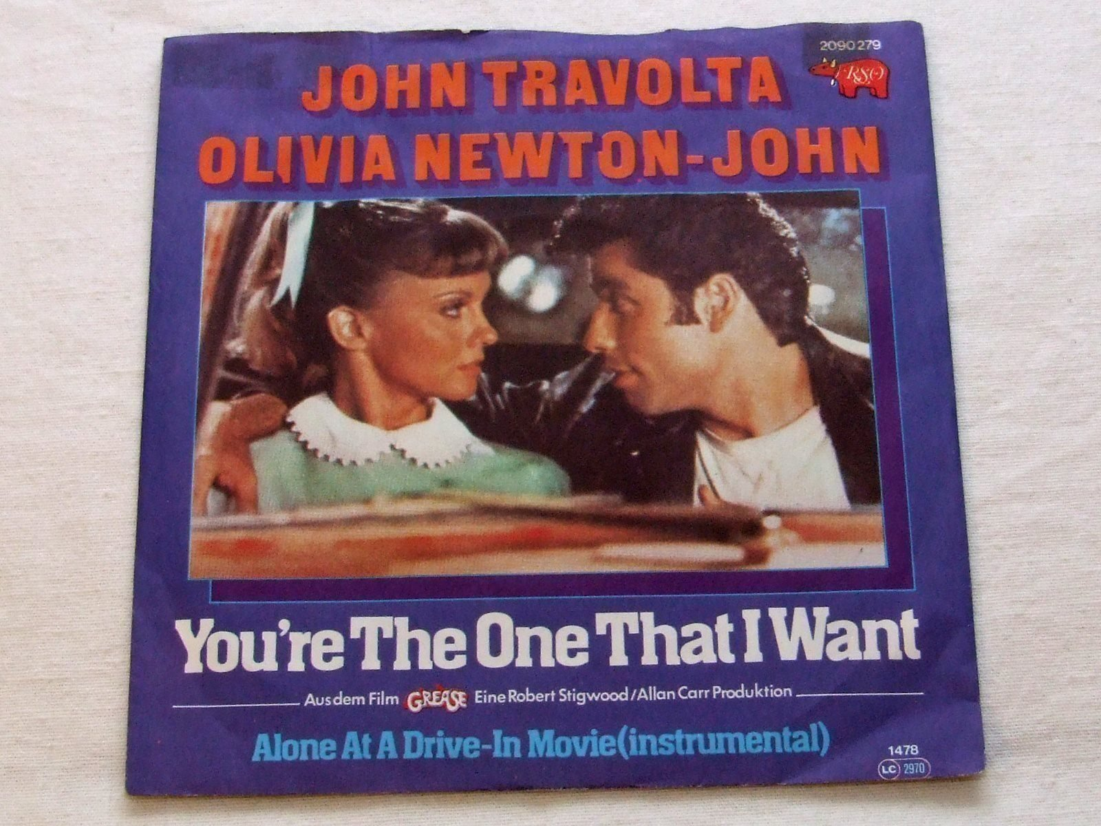 John Travolta / Olivia Newton-John - You're The One That I Want - Vinylsingel