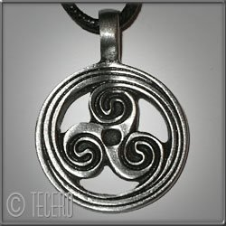 Celtic Sign ~ Hänge i nickelfritt tenn ~ Yoga, Wicca, Häxa, New Age