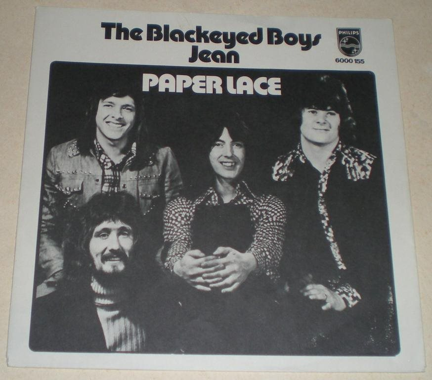 Paper Lace SINGELOMSLAG The blackeyed boys 1974 VG++