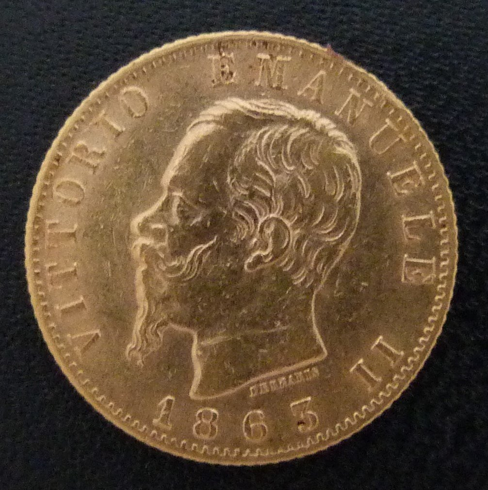 156 Ar Gammalt Guldmynt 20 Lire Italien 1863 350733792 ᐈ