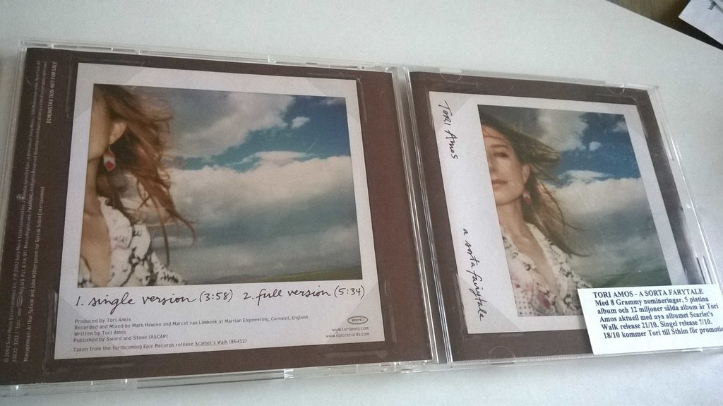 Tori Amos - A Sorta Fairytale, CD, Single, Promo