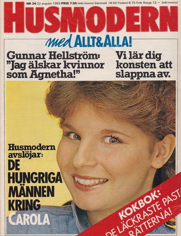 Husmodern 1983-34 ABBA Agnetha.Carola Häggkvist.B Karlsson