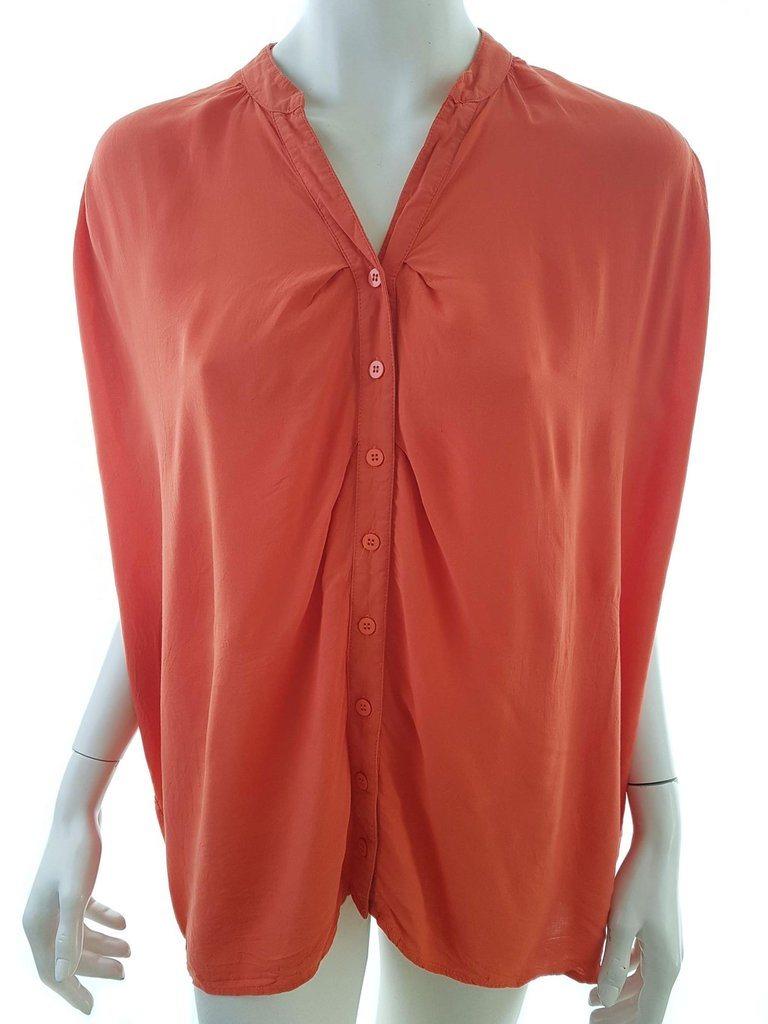 Vila size S Tunic sleeve short viscose 100% orange