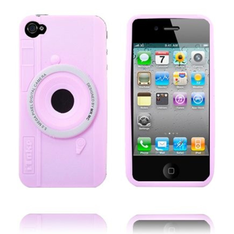 Camera Skal (Ljusrosa) iPhone 4 4S Skal (289737516) ᐈ WePack på Tradera 3ba9f6624e300