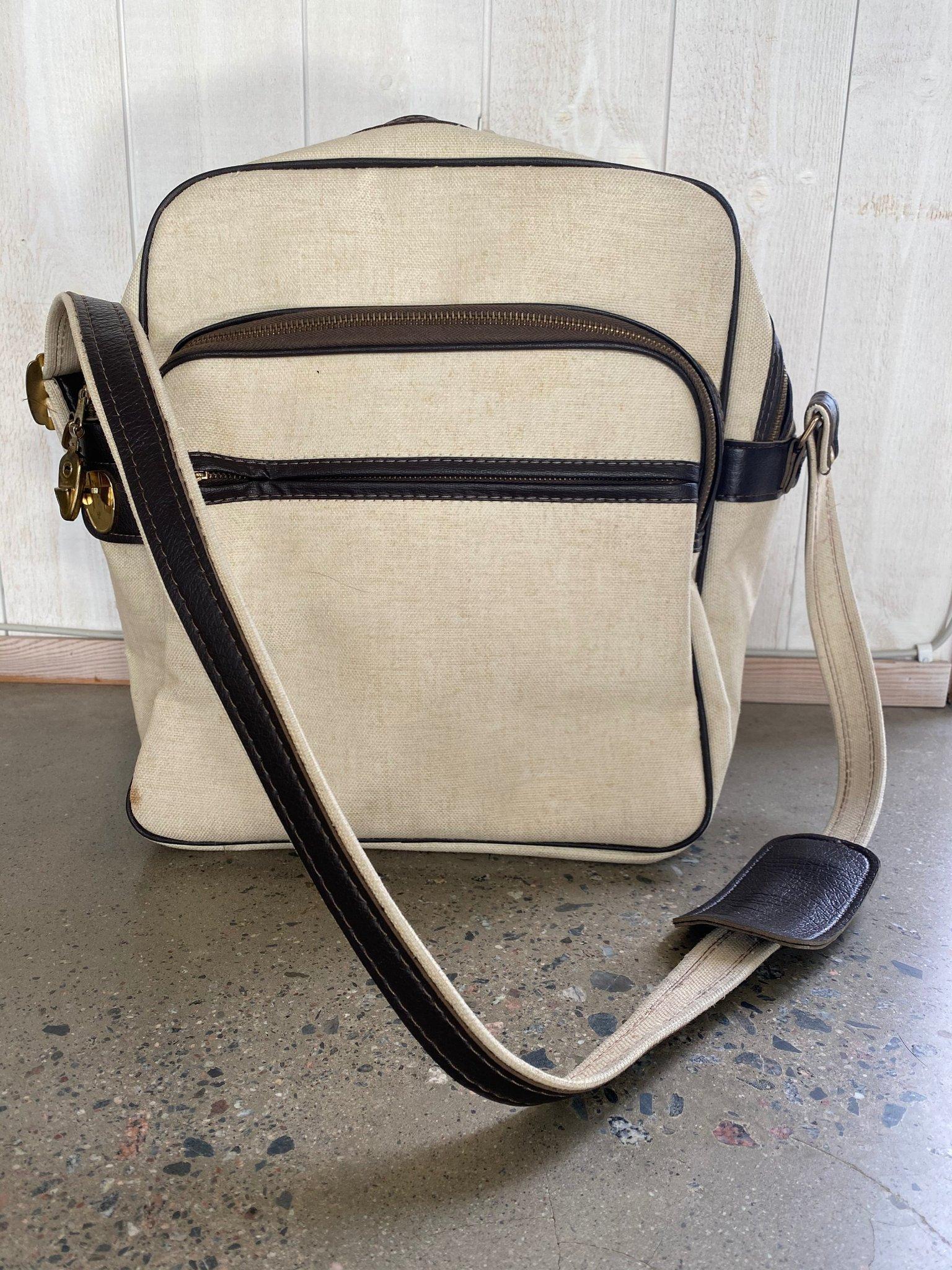 Vintage 70 tals väska bag canvas retro